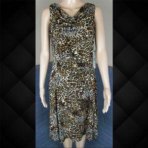 Jones Wear Leopard Print Dress Size 8
